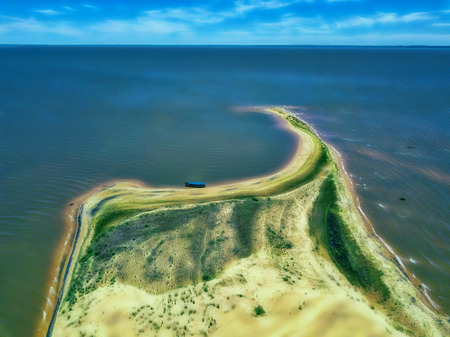 Aerial view of the dunes island