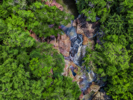 Birds eye view of the waterfall
