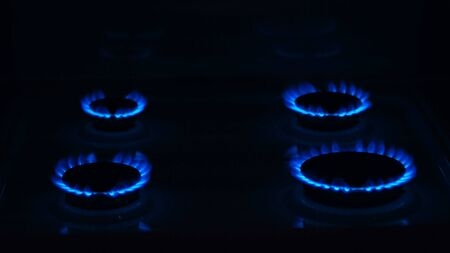 Gas stove with gas composition