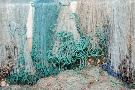 Fishing net in old port Stock Photo - 5752320