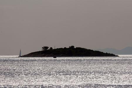 moonrise: Island Stock Photo