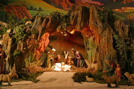 holy night: Nativity scene