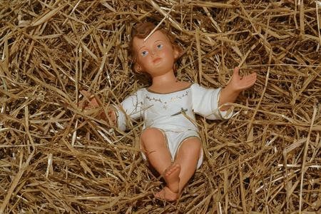 A baby Jesus figure on Christmas Stock Photo - 5780425