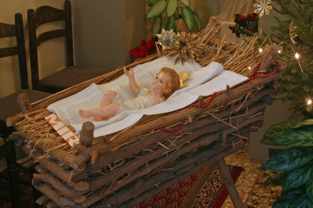 A baby Jesus figure on Christmas Stock Photo - 5780316
