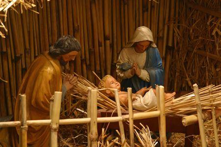 creche: Escena de la Natividad