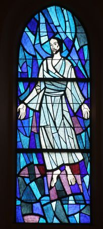 Transfiguration of Jesus, stained glass Stock Photo - 10004783