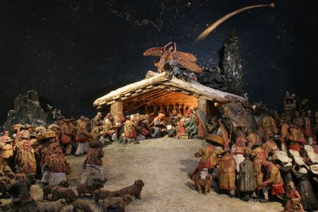 saint joseph: Nativity Scene