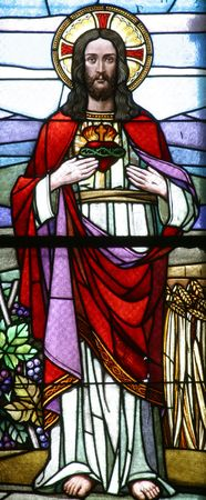Sacred Heart of Jesus, Stained glass photo