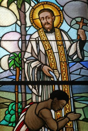 francis: Saint Francis Xavier, stained glass