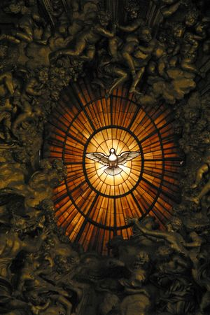 basilica of saint peter: Holy Spirit Window, St. Peters Basilica, Vatican