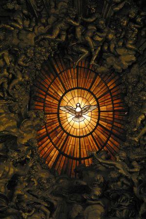 saint peter: Holy Spirit Window, St. Peters Basilica, Vatican