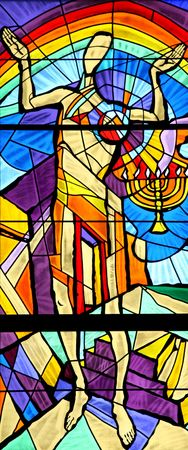 catholic stained glass: Construction of the temple Editorial