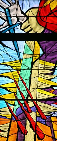 catholic stained glass: Jacobs Dream