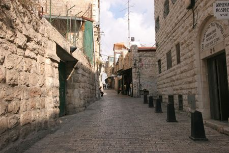 restore ancient ways: Via dolorosa - the last Jesus way in Jerusalem