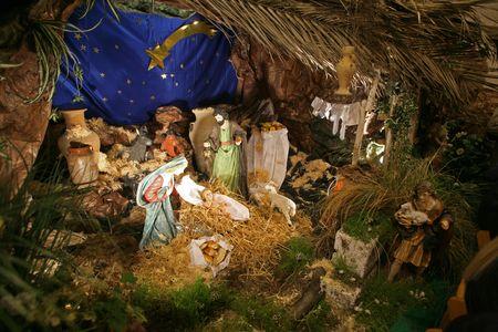 Nativity scene, Cana-Church of the Miracle photo