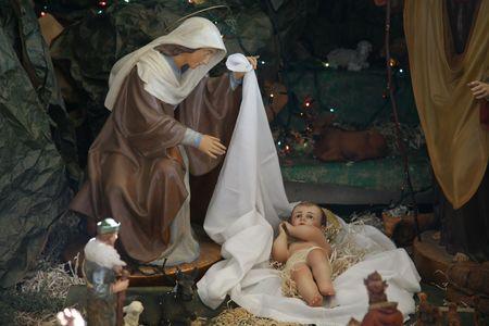Nativity scene, Capernaum, The Church of the House of Peter Stock Photo - 5896663