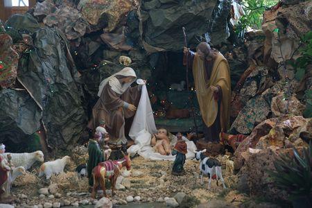 Nativity scene, Capernaum, The Church of the House of Peter photo