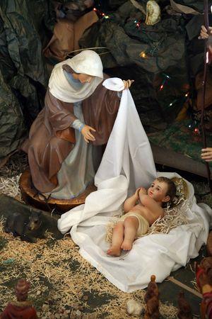 creche: Natividad escena, Cafarna�m, la Iglesia de la casa de Pedro