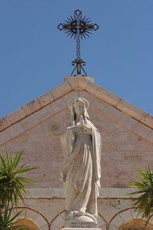 Virgin Mary, St. Catherine church, Bethlehem, Palestine, Israel photo