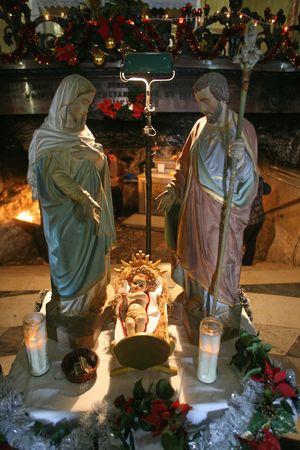 Nativity scene, Haifa, Stela Maris church