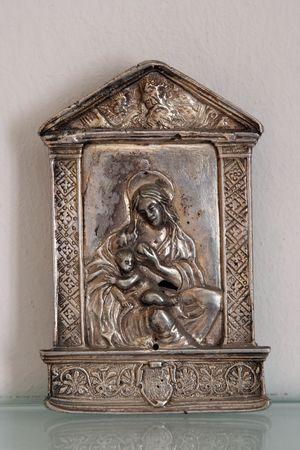 virgen maria: Virgen con el ni�o Jes�s Foto de archivo