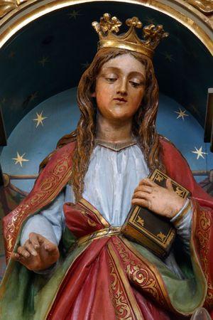 Santa Catalina de Alejandría  Foto de archivo - 6013423