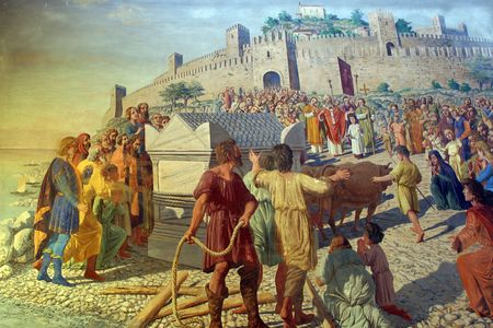 martyr: Sarcophagus with relics of nSaint Euphemia coming in Rovinj Editorial