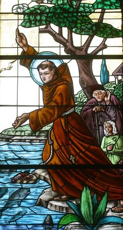 sainthood: Saint Anthony of Padua Stock Photo
