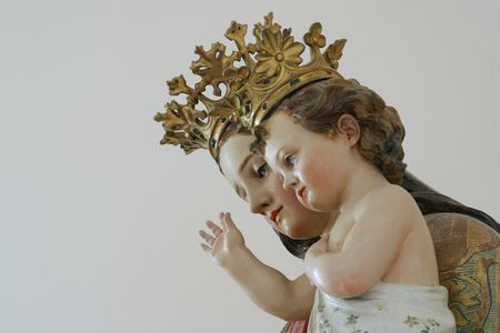 Blessed Virgin Mary with baby Jesus photo