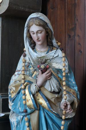 homily: Immaculate Heart of Mary Stock Photo