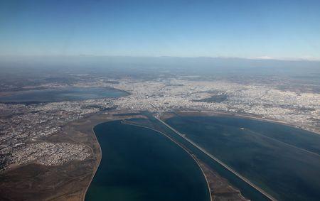 tunis: Tunis aerial view Stock Photo