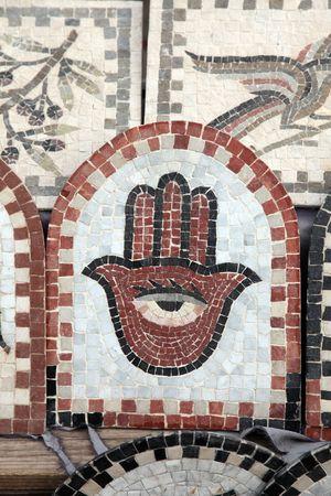 Fatima hand on the ceramic tile Stock Photo - 6256352