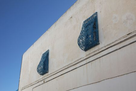 Traditional window from Sidi Bou Said, Tunis photo