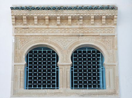 Traditional window from Kairouan, Tunisia photo