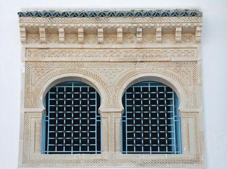Traditional window from Kairouan, Tunisia photo