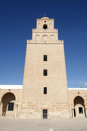 kairouan: The Great Mosque from Kairouan, Tunisia - UNESCO World Heritage Site