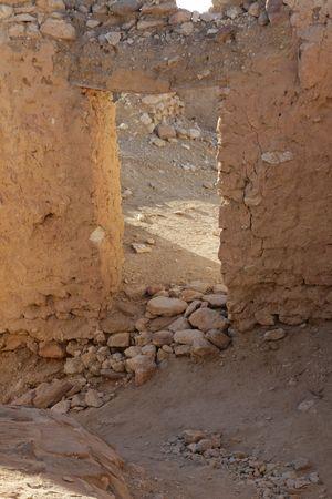 Ruins of mountain oasis Chebika at border of Sahara, Tunisia photo