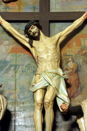 Jesus crucified on the cross photo