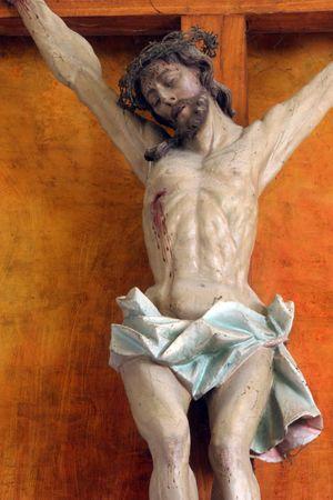 Jesus crucified on the cross photo