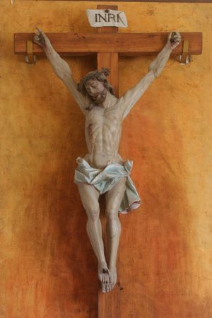 Jesus crucified on the cross Stock Photo - 6350571