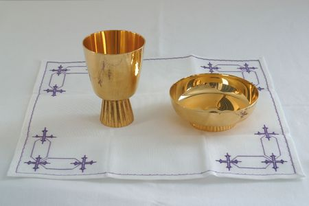 Gold chalice photo