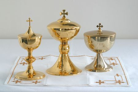eucharistie: Calice or  Banque d'images