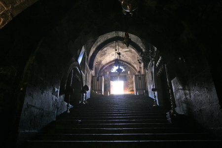crypt: Jerusalem-Church of the Tomb of the Virgin Mary Editorial