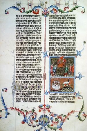 holy book: close up of old holy bible book