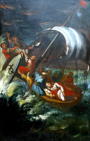 holy bible: Jesus Calms a Storm on the Sea Editorial