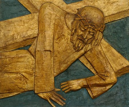 9th Station of the Cross, Jesus falls the third time photo