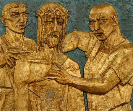 10th Station of the Cross, Jesus is stripped of His garments photo