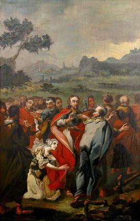 hemorrhage: Ges� guarisce una donna con una emorragia che ha toccato le frange del suo vestito