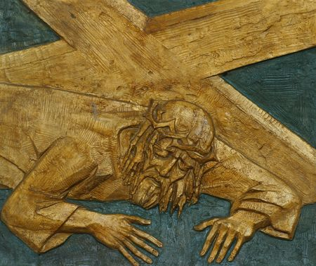 7th Station of the Cross, Jesus falls the second time photo