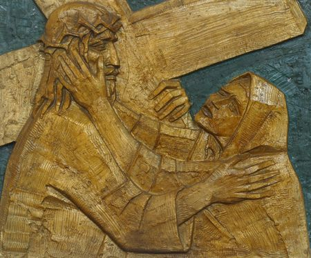 4th Station of the Cross, Jesus meets His Mother photo